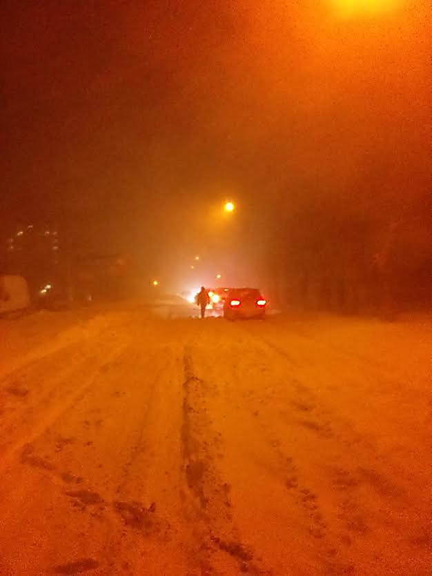 Collapse In The Nikolaev Area In Snow Drift On The Kiev