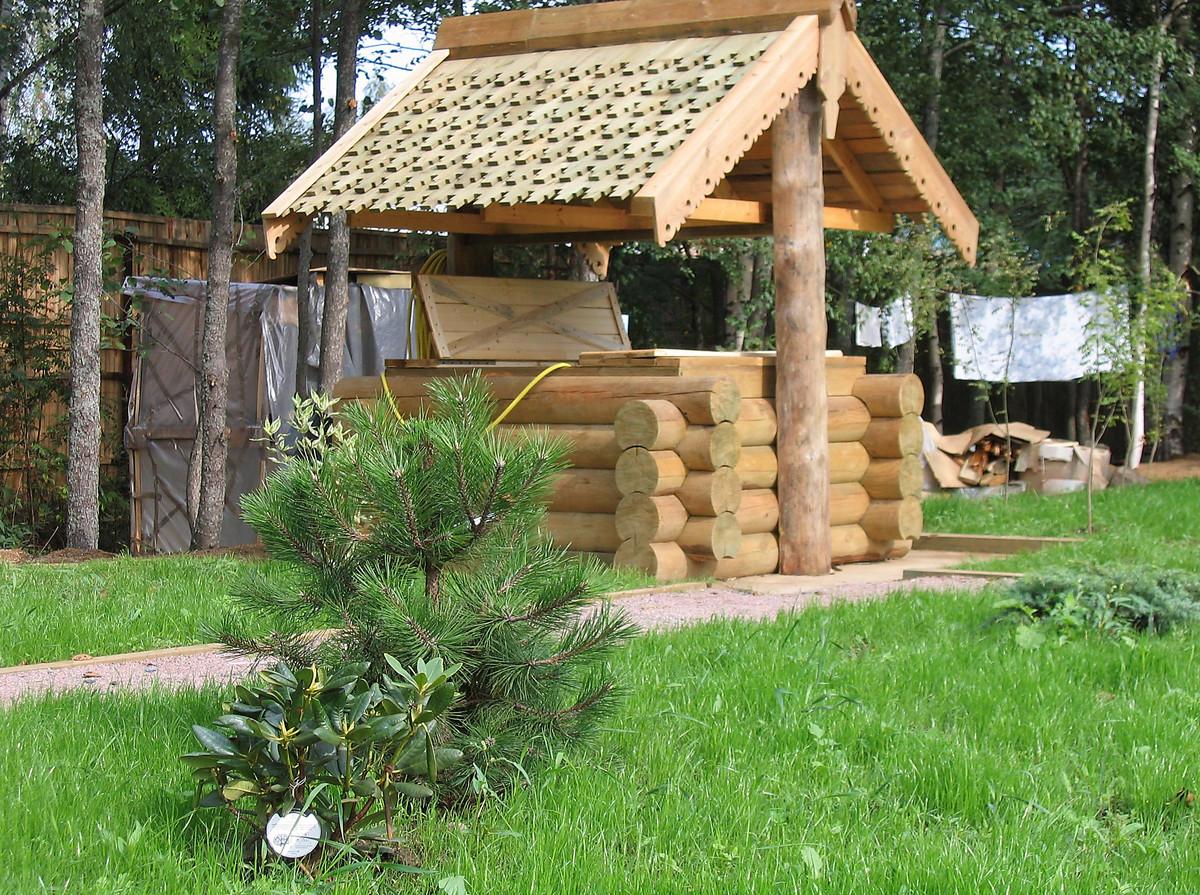 Как сделать деревянный колодец - AtmWood 13