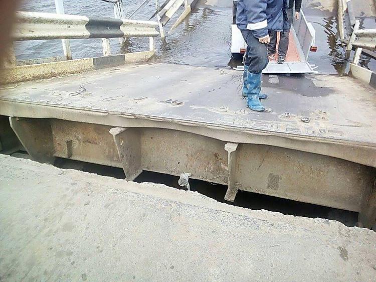 Нареке Ингул ушел под воду понтонный мост