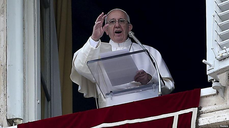 Папа Римский призывает закончить конфликт наДонбассе