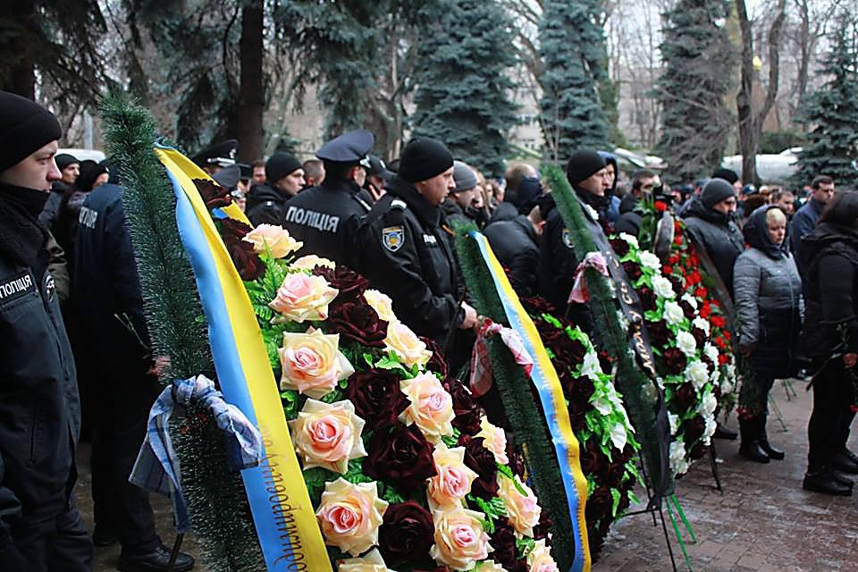 В Одессе провели в последний путь полицейского
