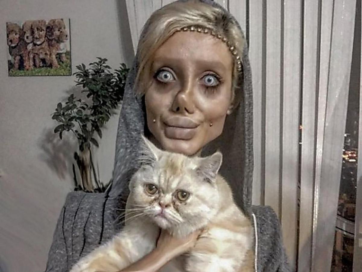 Девушка хотела стать похожей на Анджелину Джоли, у нее почти получилось, но изоражения