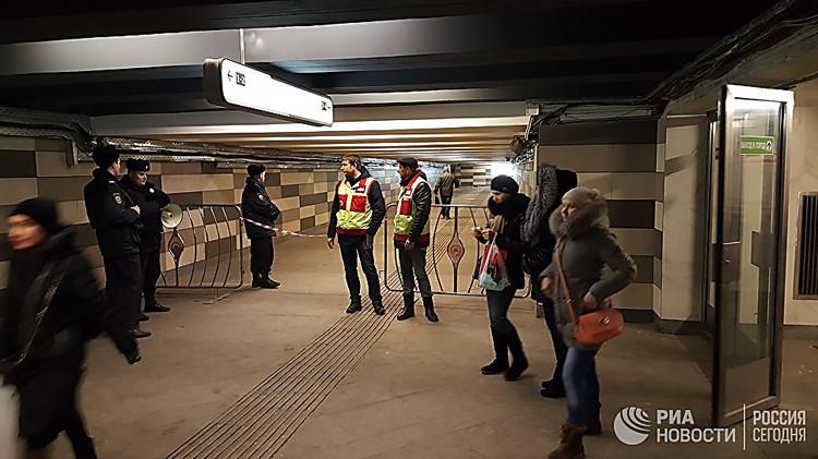 Настанции метро в российской столице произошел взрыв