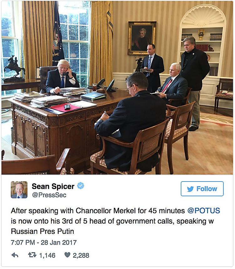 Лавров поведал подробности разговора Владимира Путина иТрампа