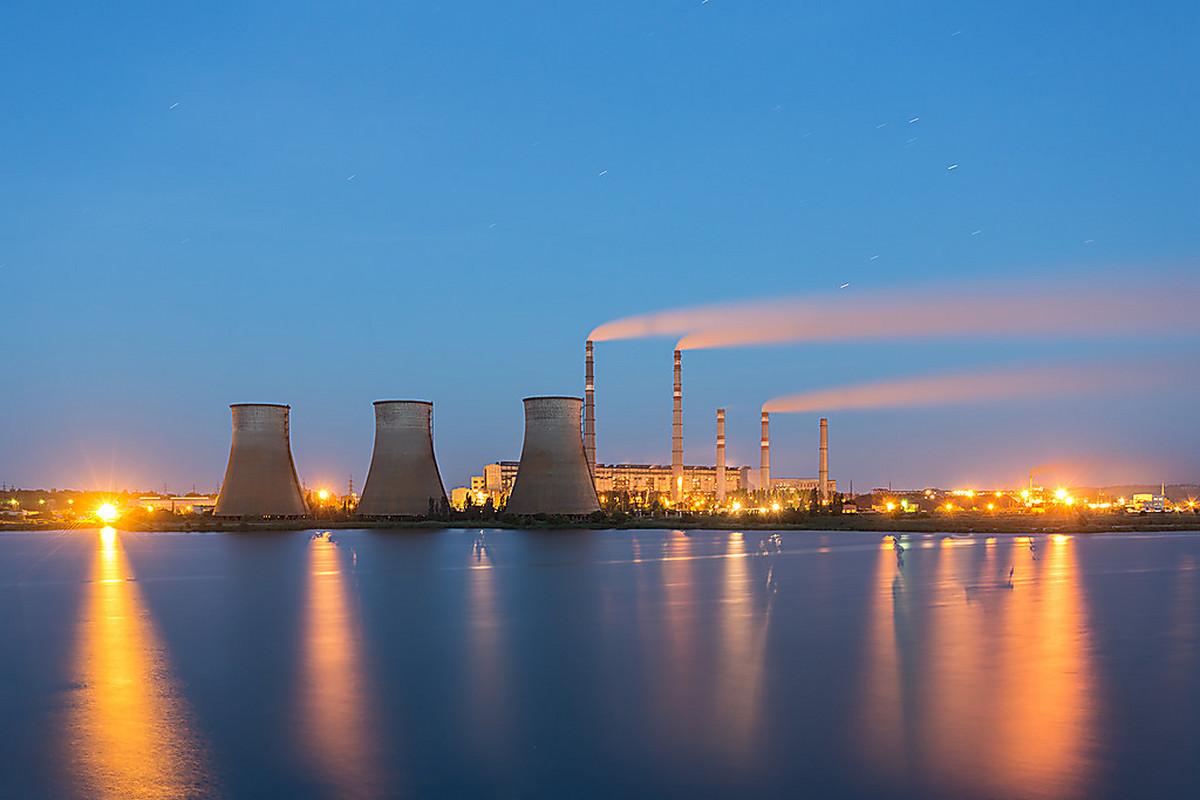 Электростанции в открытках