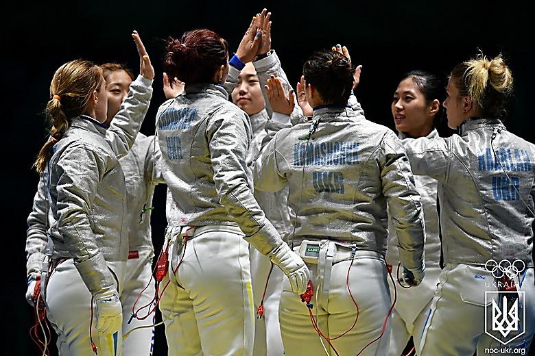 Фехтование: Женская сборная Украины вышла вфинал Олимпиады
