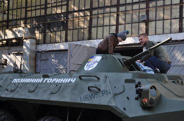 Николаевский бронетанковый завод и волонтеры передали в музей ракетных войск отреставрированный БТР