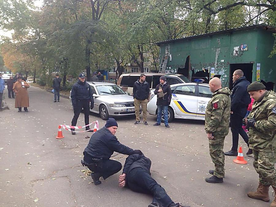 ВКиеве стреляли впатрульных, злоумышленника задержали
