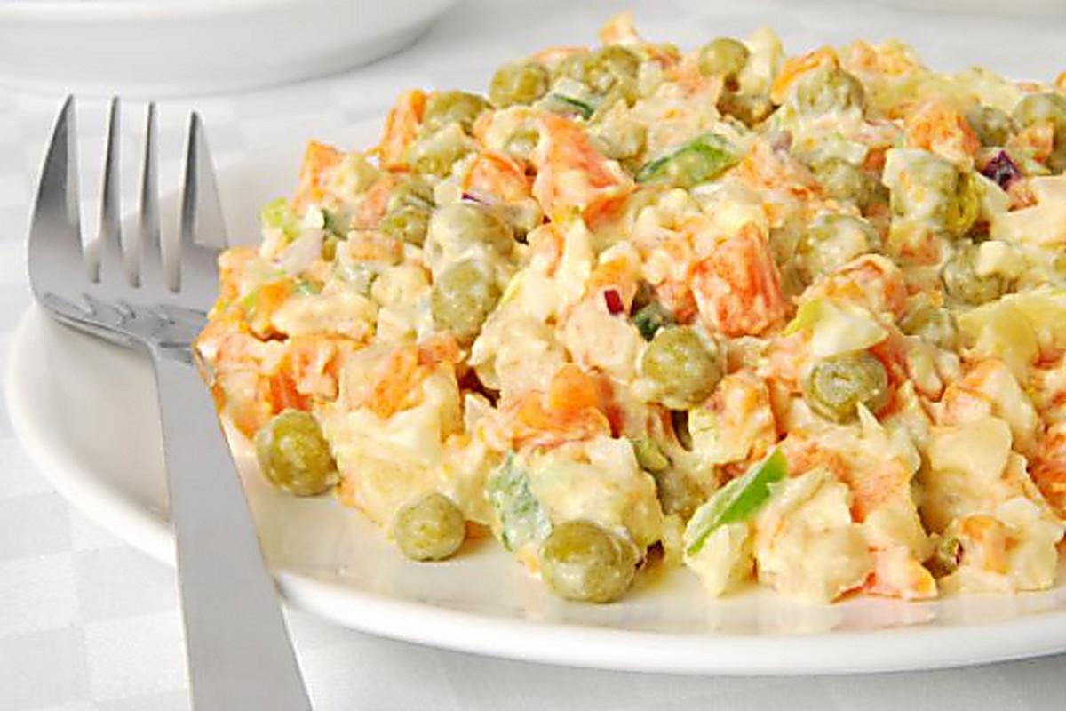 Салат из консервированного горошка рецепты простые и вкусные