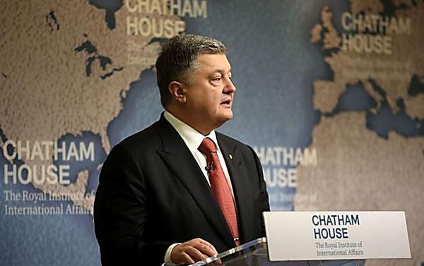 РФ  признает только право силы— Порошенко встолице Англии