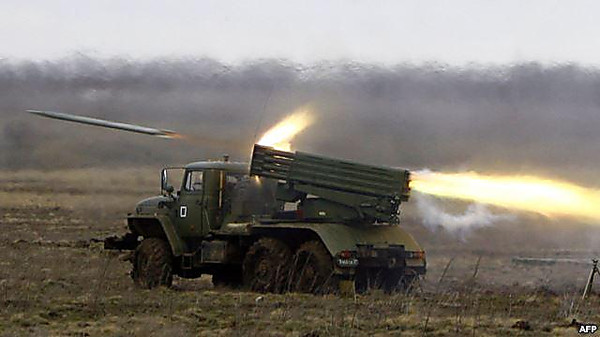 Боевики обстреляли из«Градов» украинские позиции