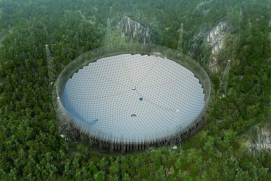 В Китае создали крупнейший вмире радиотелескоп получивший название FAST