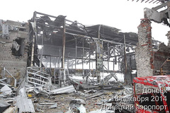 """Донецкий аэропорт три года назад был и  ещё работал,но пришли """"освободители""""  от путина"""
