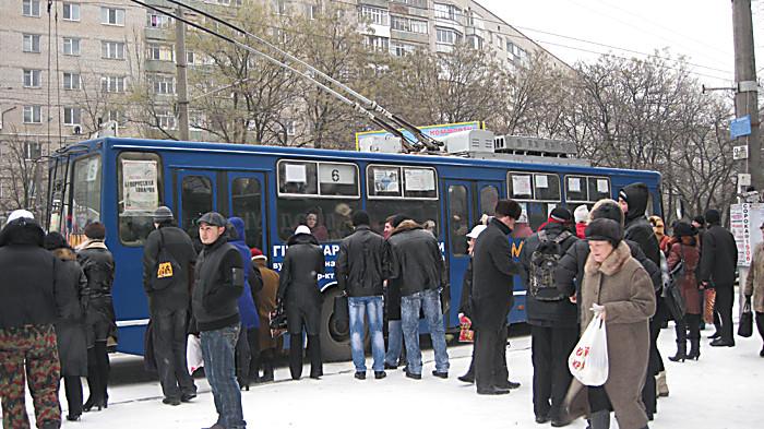 В общественном транспорте произошло ЧП
