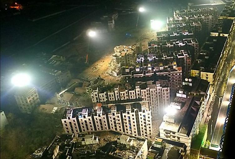 В КНР одновременно взорвали 19 зданий