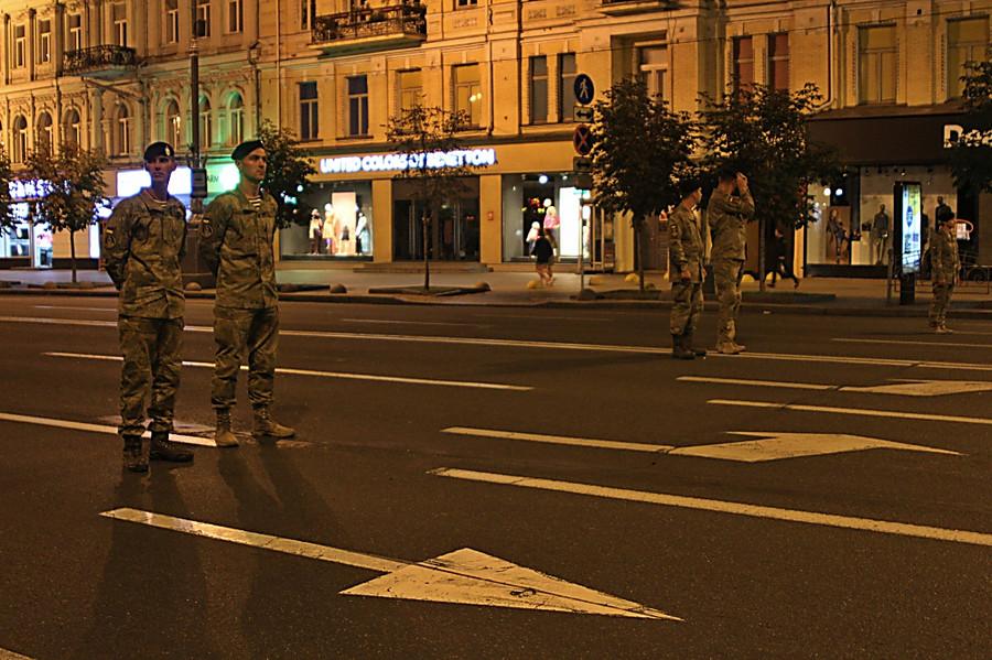 ВКиеве прошла репетиция военного парада коДню независимости