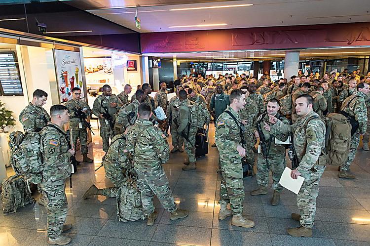 ВГермании началась переброска военной техники США