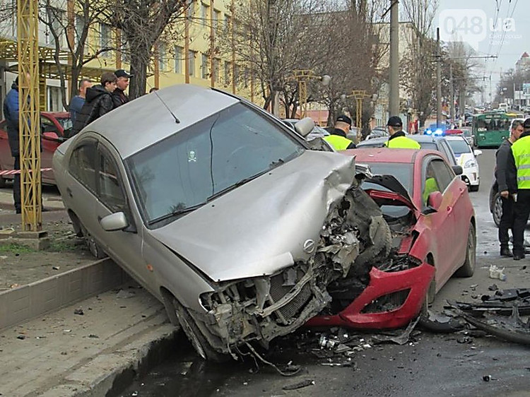 In Odessa the uncontrollable foreign car has rammed four