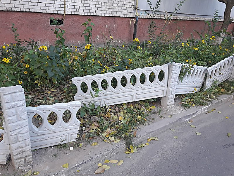 проверить износ бетонный палисадник фото профили