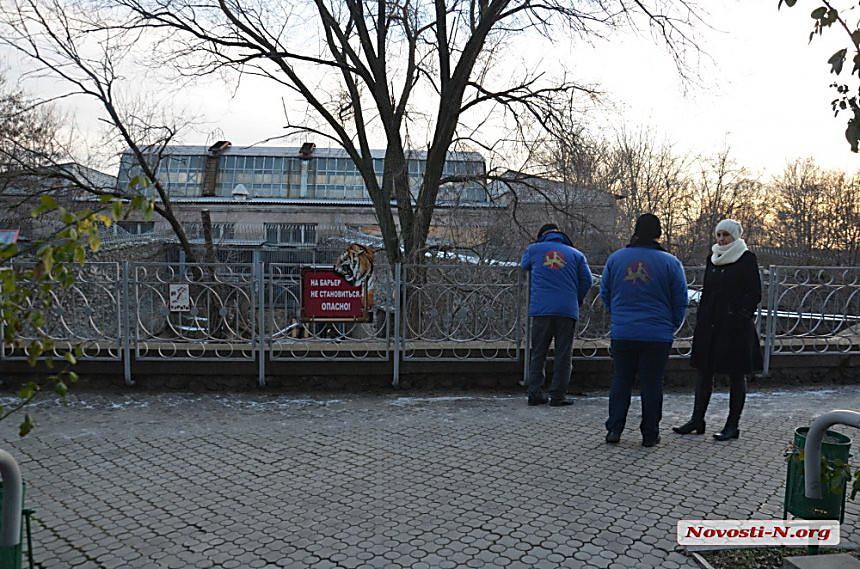 Дворник Николаевского зоопарка прыгнул ввольер стиграми