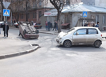 In Odessa as a result of road accident the car